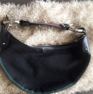 Rare authentic vintage Gucci halfmoon shoulder bag